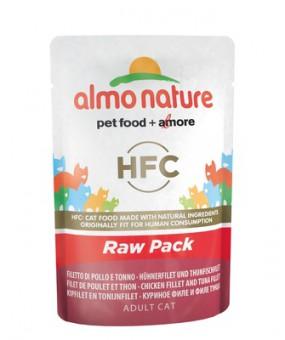 6шт Almo Nature 55гр паучи 75% мяса для Кошек Филе Тунца с курицей Classic Raw Pack - Chicken and Tuna Fillets