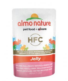 6шт Almo Nature 55гр Паучи Тунец, Курица и Ветчина в Желе для кошек Classic Nature Jelly - Tuna, Chicken and Ham