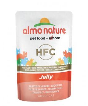 6шт Almo Nature 55гр Паучи Лосось в Желе для кошек Classic Nature Jelly - Salmon