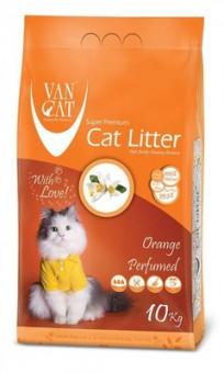 VAN CAT 10кг 100% Натуральный комкующийся наполнитель, без пыли, с ароматом апельсина