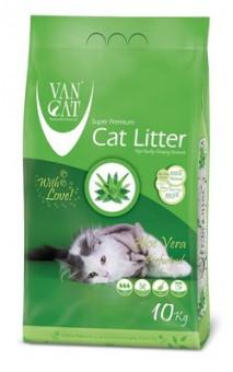 VAN CAT 5кг 100% Натуральный комкующийся наполнитель, без пыли, с ароматом алое вера, Aloe Vera
