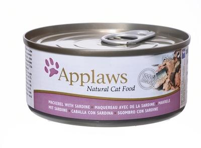 Applaws 156г консервы для кошек со скумбрией и сардинками, Cat Mackerel & Sardine