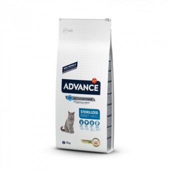 Advance 3кг Sterilized Turkey для стерилизованных кошек с индейкой