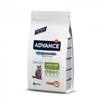 Advance 1,5кг Young Sterilized для стерилизованных кошек до 2-ух лет с курицей