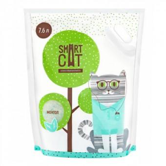 Smart Cat 7,6л Силикагелевый наполнитель с ароматом ментола