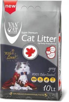 VAN CAT 10л комкующийся наполнитель с активированным углем, без пыли, пакет (Grey)