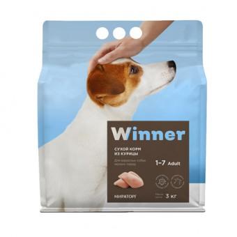 Winner 3кг сухой корм для собак мелких пород с курицей