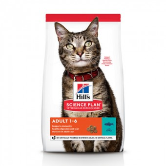 Hill's Science Plan 300г Adult Tuna сухой корм для взрослых кошек с тунцом