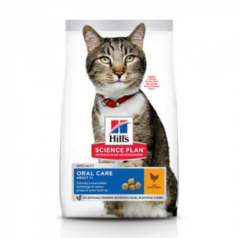 Hill's SP 1,5кг Oral Care Adult Chicken Сухой корм для кошек, уход за полостью рта, курица
