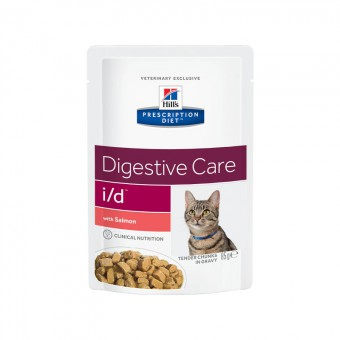 Hill's 85г PD Feline i/d паучи для кошек при лечении ЖКТ (кусочки в соусе) с курицей