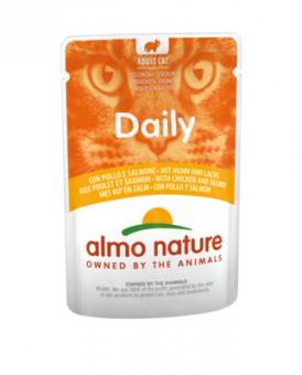 6шт Almo Nature 70гр Chicken&Salmon Daily Menu Cat курица и лосось консервы для кошек