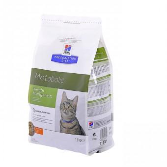 Hill's 4кг  Prescription Diet для улучшения метаболизма (коррекции веса) у кошек, Feline Metabolic
