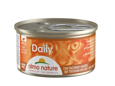 6шт Almo Nature 85гр с меню с индейкой и уткой консервы для кошек Daily Menu Cat Turkey&Duck