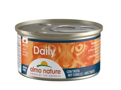 6шт Almo Nature 85гр меню с форелью консервы для кошек Daily Menu Cat Trout