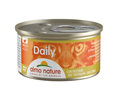 Almo Nature 85гр меню с индейкой консервы для кошек Daili Menu Mousse Turkey