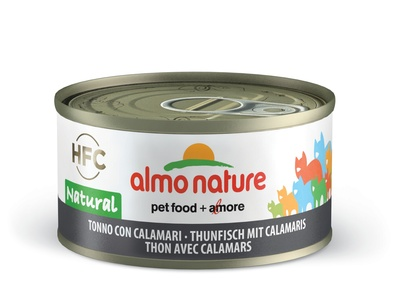 Almo Nature 70гр с тунцом и кальмарами консервы для кошек Legend Adult Cat Tuna & Squids