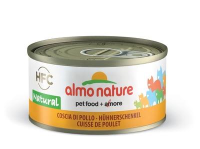 6шт Almo Nature 70гр  аппетитные бедрышки консервы для кошек Legend Adult Cat hicken Drumstick с