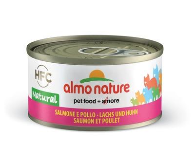 6шт Almo Nature 70гр с лососем и курицей консервы для кошек Legend Adult Cat Salmon&Chicken