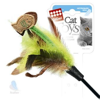 GiGwi (75017) 50097 75см  Игрушка для кошек Дразнилка на длинном стеке с рыбками