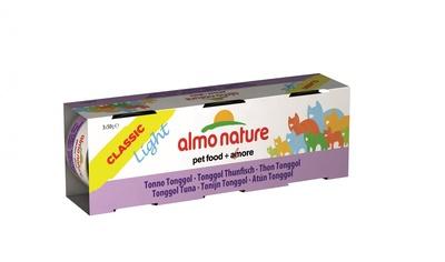 Almo Nature 50гр набор низкокалорийных консервов c тонгольским тунцом, Classic Light Cat Tongool Tuna