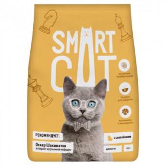 Smart Cat 5кг сухой корм для котят, с цыпленком