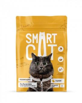 Smart Cat 0.4кг сухой корм для взрослых кошек, с курицей