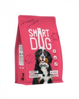 Smart Dog 18кг корм для взрослых собак крупных пород, с ягненком