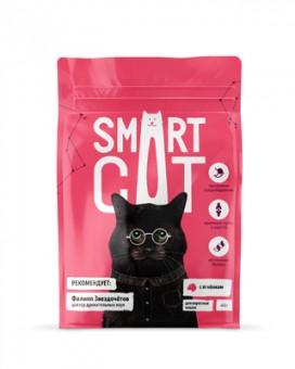Smart Cat 5кг сухой корм для взрослых кошек, с ягнёнком