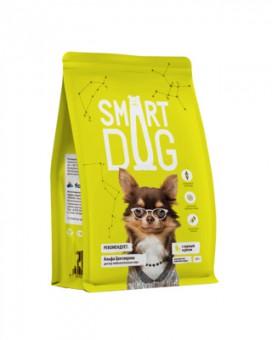 Smart Dog 800г корм для взрослых собак с курицей и рисом