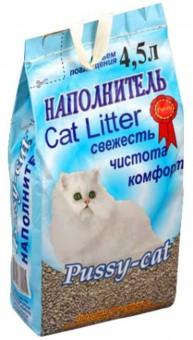 PUSSY-CAT 2 кг/4,5л Впитывающий цеолитовый наполнитель