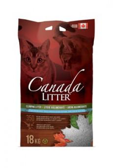 Canada Litter 18 кг Комкующийся наполнитель Запах на Замке (Scoopable Litter) с ароматом детской присыпки