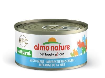6шт Almo Nature 70гр с морепродуктами консервы для кошек Legend Adult Cat seafood