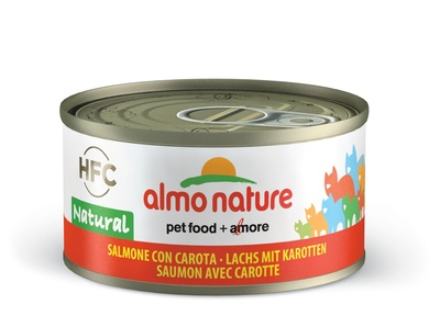 6шт Almo Nature 70гр с лососем и морковью консервы для кошек Legend Adult Cat Salmon&Carrot
