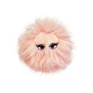 Silly Squeakers Игрушка-пищалка для собак Пушистый мяч с глазами средний, розовый