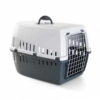 Savic Trotter 2 56х33х33см Пластиковая переноска для небольших животных, серая