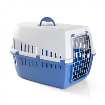 Savic Trotter 3 60,5х40,5х39см Пластиковая переноска для небольших животных, синяя