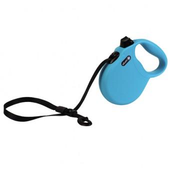 Alcott Wanderer L Поводок-рулетка для собак до 50 кг, лента, голубая