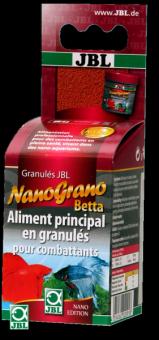 JBL NanoGrano Betta - Осн корм для бойцовых рыбок в нано-аквариуме, плавающие гранулы, 60 мл/3