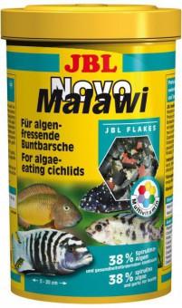 JBL NovoMalawi - Основной корм для растительноядных цихлид, хлопья, 1 л (160 г)