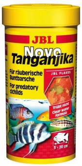 JBL NovoTanganjika - Основной корм в форме хлопьев для хищных цихлид, 1000 мл (190 г)