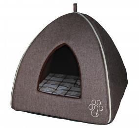 TRIXIE 35х40х35 см Лежак-домик для кошки Nelo плюш, тигровый