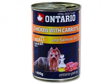 Ontario 0,4кг Консервы для собак курица и морковь