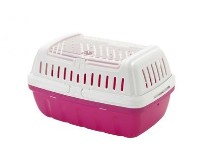 Moderna переноска-корзинка Hipster, большая, 40x26x23 см, ярко-розовая (для питомцев до 4кг)