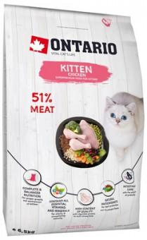 Ontario 2кг корм для котят, с курицей, Ontario Kitten Chicken
