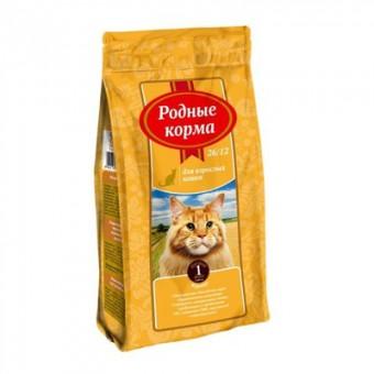Родные корма 409 г сухой корм для взрослых кошек, с курицей