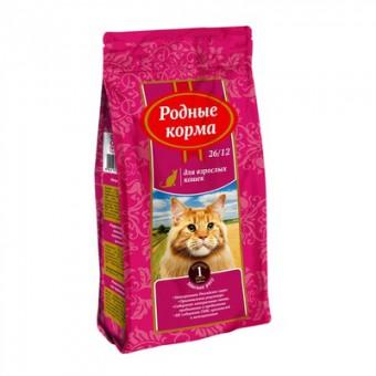 Родные корма 409 г сухой корм для взрослых кошек, с мясным рагу