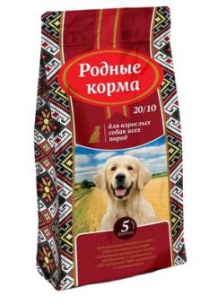Корм Родные корма 2,05 кг сухой корм для взрослых собак всех пород с курицей