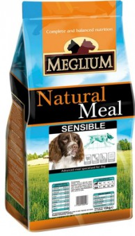 Meglium 3 кг Natural Meal Sensible сухой корм для взрослых собак с чувствительгым пищеварением Ягненок и Рис