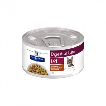 Hill's Prescription Diet 82г i/d Рагу, влажный диетический корм для кошек при расстройстве жкт, с курицей и добавлением овощей