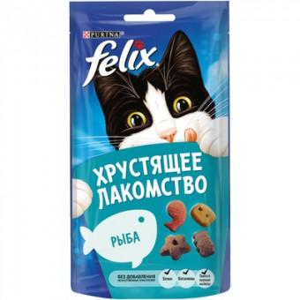 Felix 60г хрустящее лакомство со вкусом рыбы